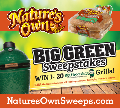 Nature's Own, America's number one best-selling bread brand, has joined forces with The Big Green Egg Company to launch