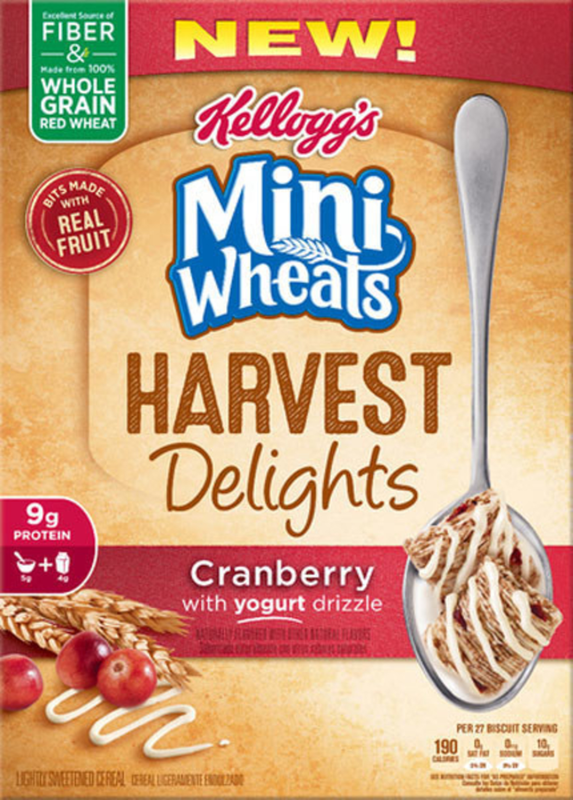 Mini Wheats Harvest Delights Cranberry Cereal
