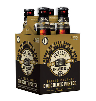 Genesee Brew House Pilot Batch Salted Caramel Chocolate Porter will be available in four-pack bottles just in time for the holiday season.