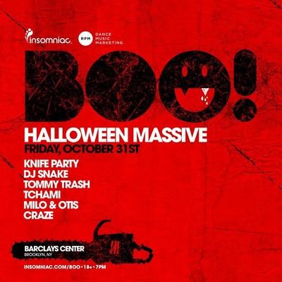Insomniac Announces Artist Lineup for BOO! Halloween Show in New York  (PRNewsFoto/Insomniac)