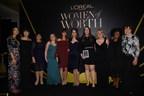 Karen T. Fondu and the 2016 L'Oreal Paris Women of Worth Honorees