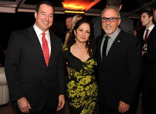 Facundo L. Bacardi, Chairman of Bacardi Limited, with Latin music icon Gloria Estefan and former Bacardi employee of 15 years Emilio Estefan at the 150th anniversary celebration of BACARDI Rum in Miami, Florida. Photo credit: World Red Eye Productions.  (PRNewsFoto/Bacardi U.S.A., Inc.)