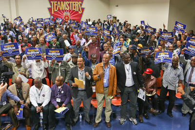 More than a thousand Washington cab drivers packed the room Oct. 29 for the first meeting of the Teamster-affiliated Washington, D.C. Taxi Operators Association. The group was formed to give drivers a collective voice about new regulations being imposed.  (PRNewsFoto/International Brotherhood of Teamsters)