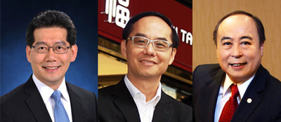 (From left): Mr Gregory So Kam-leung, GBS, JP, Secretary for Commerce and Economic Development of the Government of HKSAR; Mr. Kent Wong, Managing Director of Chow Tai Fook Jewellery Group Limited; Mr. Wong Wai Sheung, Chairman and Chief Executive of Lukfook Group.  (PRNewsFoto/UBM Asia Ltd)