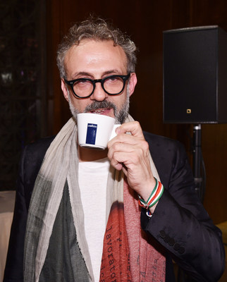 Massimo Bottura Sips LAVAZZA Coffee at The World's 50 Best Restaurants Awards at Cipriani New York June 13th 2016