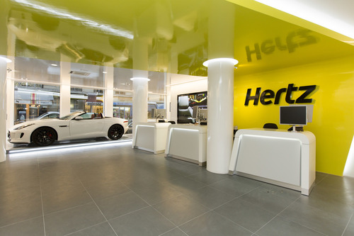 Hertz has given its premier Paris city location (Saint Ferdinand) a high tech makeover as part of the company's global reinvention of the car rental experience. Customers are welcomed into a spacious, streamlined layout with a personalized, interactive service and the latest technology innovations in the car rental industry. (PRNewsFoto/The Hertz Corporation)