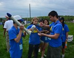 TARC team from Wisconsin preps their rocket for launch at the National Finals