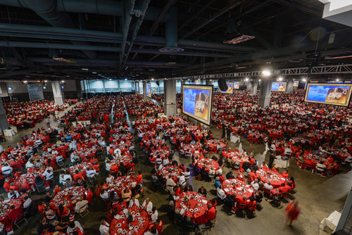 The Social Action Luncheon for 16,000 attendees on July 15 spanned 3 halls at the Walter E. Washington Convention Center as part of Delta Sigma Theta Sorority's week-long 100th Anniversary Celebration. The event was catered by Centerplate/NBSE.  (PRNewsFoto/Centerplate)