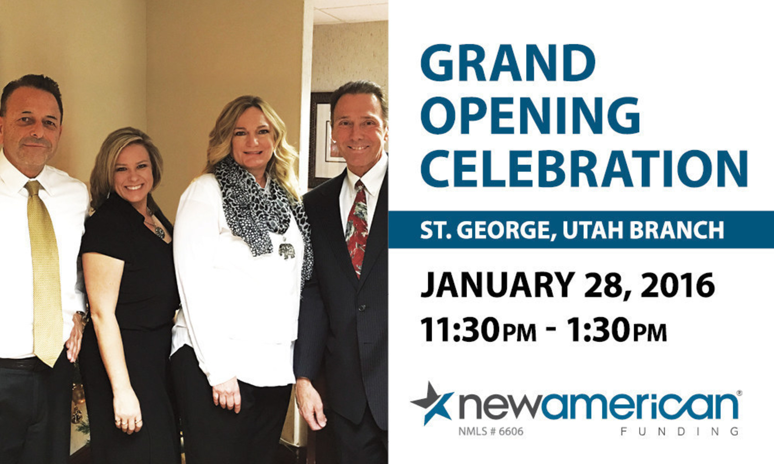 New American Funding Brings Affordable Home Loans to St. George, UT with New Branch Opening