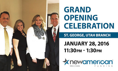 New American Funding branch opening in St. George, UT.