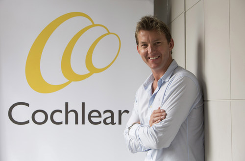 Brett Lee - Cochlear's First Global Hearing Ambassador (PRNewsFoto/Cochlear Limited) (PRNewsFoto/Cochlear Limited)