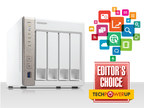 QNAP(R), Inc. is excited to announce that popular tech media outlet TECHPOWERUP has awarded the QNAP TS-451 the Editor's Choice award.