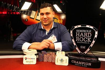 Omar Zazay, winner of Seminole Hard Rock Poker Open