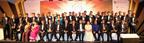 The winners of Asia Pacific Entrepreneurship Awards 2014 Sri Lanka with Dr. Sarath Amunugama, Senior Minister of International Monetary Cooperation, Mr. Neomal Perera, Deputy Minister of External Affairs, Tan Sri Dr Fong Chan Onn, Chairman, Enterprise Asia and Datuk William Ng, President, Enterprise Asia.  (PRNewsFoto/Enterprise Asia)