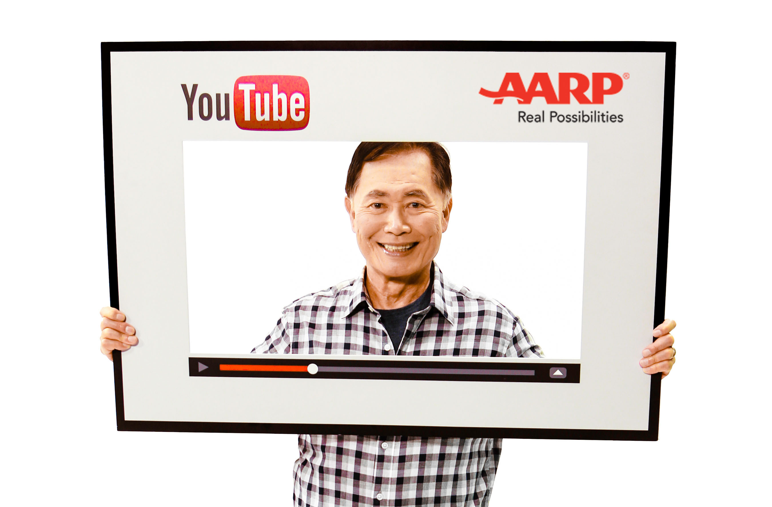 GEORGE TAKEI EXPANDS SOCIAL MEDIA PRESENCE TO YOUTUBE AND TEAMS UP WITH AARP FOR NEW SERIES.  (PRNewsFoto/AARP)