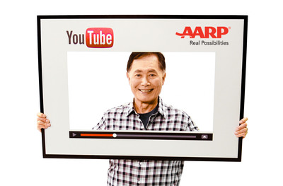 GEORGE TAKEI EXPANDS SOCIAL MEDIA PRESENCE TO YOUTUBE AND TEAMS UP WITH AARP FOR NEW SERIES. (PRNewsFoto/AARP) (PRNewsFoto/AARP)