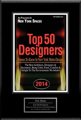 "Pol Theis Selected For ""Top 50 Designers: Names To Know In New York Metro Design"" (PRNewsFoto/American Registry)"