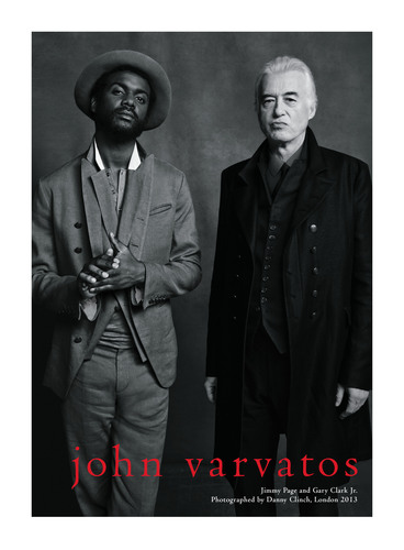 Emerging musician Gary Clark Jr. (left) and legendary Led Zeppelin guitarist Jimmy Page (right) wearing John ...