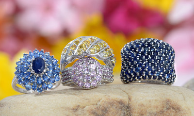 Colorful sapphire rings
