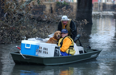 The International Fund for Animal Welfare helped rescue, care and transport 7,000 animals following Hurricane Katrina. (C) IFAW/S. Cook