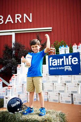 Future football quarterback, Brady Carpenter, recipient of a lifetime supply of fairlife(R) ultra-filtered milk.