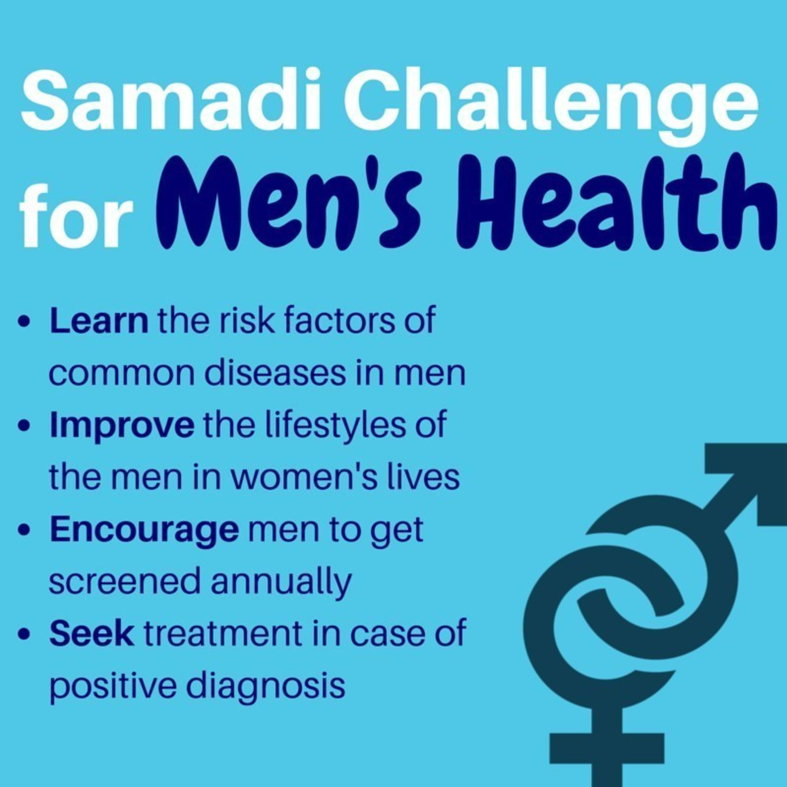 World renowned prostate cancer surgeon and men's health specialist, Dr. David Samadi, calls for women to take the Samadi Challenge during Men's Health Month and creates a screening and prevention guide for men by age.