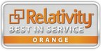 Relativity Best in Service Orange Level