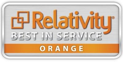 Relativity Best in Service Orange Level