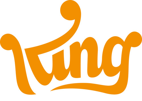 King Logo. King is the world-wide leader in cross-platform, bite-sized games. The company has grown rapidly to become one of the largest developers of games in the world on Facebook and mobile platforms. (PRNewsFoto/King) (PRNewsFoto/KING)