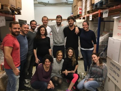 The photo shows some of the FX Empire team on Good Deeds Day packing boxes of much-needed food for the needy. The team volunteer each year on Good Deeds Day in addition to their weekly charity work.