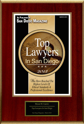 "Bryan M. Garrie Selected For ""2013 AV Preeminent Attorney"". (PRNewsFoto/American Registry) (PRNewsFoto/AMERICAN REGISTRY)"