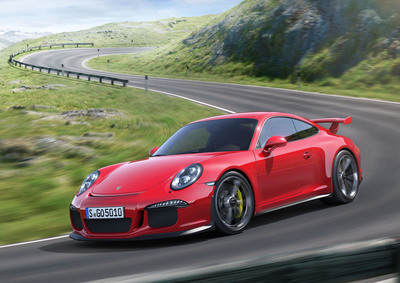 Porsche Celebrates the 50th Anniversary of the 911 with the Unveil of the New 911 GT3 at the Geneva Motor Show. (PRNewsFoto/Porsche Cars North America, Inc.) (PRNewsFoto/PORSCHE CARS NORTH AMERICA, INC.)