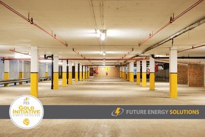 Future Energy Solutions (FES) has signed a Supply of Services Agreement with National Car Parks Limited (NCP). Phase 1 of the project will involve the installation of over 60,000 energy efficient LED luminaires in 149 multi-storey car parks throughout the UK, from Scotland to the South Coast, in the first half of 2014.  (PRNewsFoto/Future Energy Solutions)