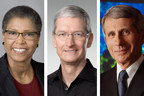 Carole M. Watson, left, Tim Cook, center, and Anthony S. Fauci will receive honorary degrees at GW's May 17 commencement.