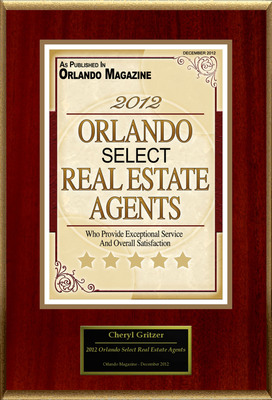 "Cheryl Gritzer Selected For ""2012 Orlando Select Real Estate Agents"".  (PRNewsFoto/American Registry)"