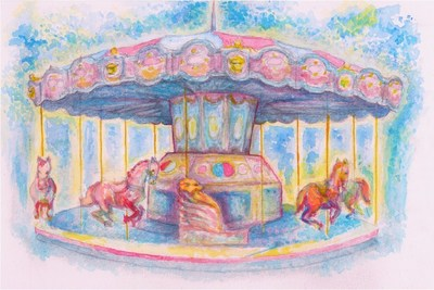 Denver Pavilions Holiday Carousel Returns Dec. 11-23. Art by Daniel Crosier.