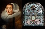 Oil portrait attributed to Jan Anthoniz van Ravenstein (Dutch, circa 1570-1657), and one of many superb stained-glass windows from the residence and estate of opera singer Frances Yeend, to be auctioned Aug. 29-30. Joe R. Pyle Auctions image (PRNewsFoto/Live Auctioneers)