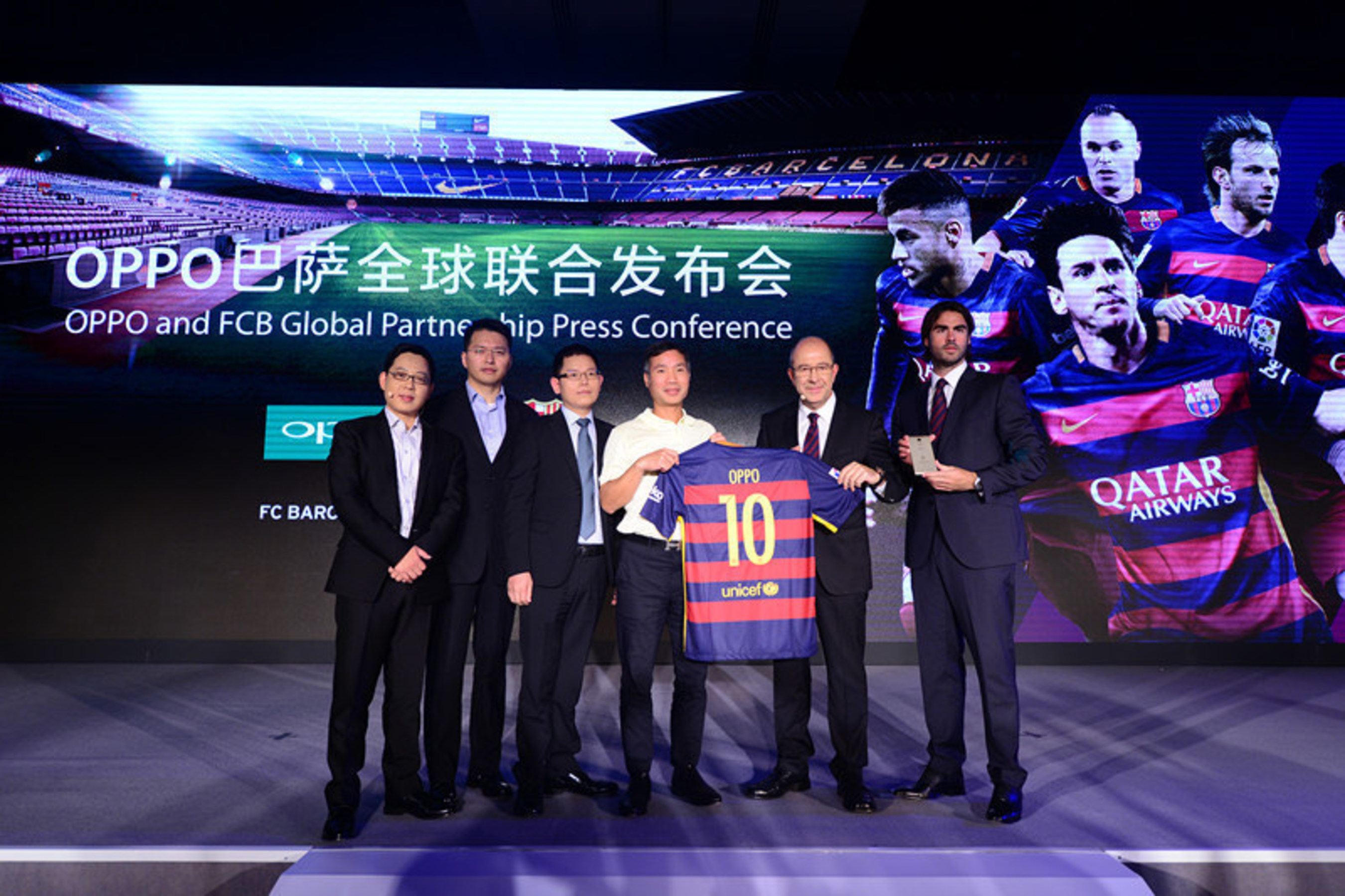 The FC Barcelona Vice Chairman welcomes OPPO into the family with a special jersey