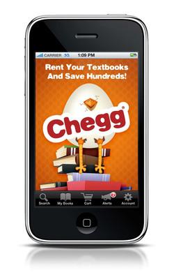 Chegg's mobile application. (PRNewsFoto/Chegg.com)