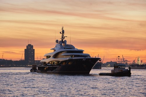Oceanco's highly confidential 88.5m/290ft motoryacht, Y715, has been launched on 31 October 2016 and is entering her commissioning period. (PRNewsFoto/Oceanco)