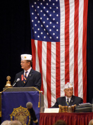Fairmont Indiana native, Ed Trice was installed as the Commander of the Indiana Department of the American Legion during their 95th Annual State Convention on 13 July. Cmdr Trice will focus his efforts while in office on ensuring that the American Legion's community services and Americanism is publicized to the state of Indiana and the Nation.  (PRNewsFoto/American Legion Department of Indiana, Kim Mezger, University Legion Post #360)