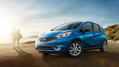 The 2014 Nissan Versa Note achieves a best-in-class combined fuel economy and is capable of traveling 40 MPG on the highway.  (PRNewsFoto/Briggs Auto Group)