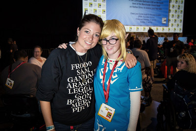 The first two winners of The Hobbit Fan Fellowship Contest, Kris McMeans from Austin, Texas (left) and Morgan Burgener from San Diego, California.