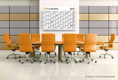 "Calendar templates in the online shops of Onlineprinters / The German online print shop Onlineprinters GmbH offers a wide selection of calendars and annual planners. Calendar templates for large-sized wall planners, annual planners, pocket, desk or wall calendars can be downloaded free of charge in the ""Calendars"" product area. As eye catcher and office manager, calendars with logos and promotional prints are powerful advertising media that are present on 365 days of the year. High-quality paper, brilliant colours and practical design templates make the calendars a premium give-away. Copyright: iStock.com/archideaphoto (PRNewsFoto/Onlineprinters GmbH)"
