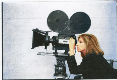 Portrait of Barbra Streisand taken by Annie Liebovitz during Ms. Streisand's directing 'The Prince of Tides.'