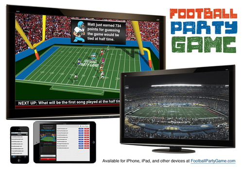 FootballPartyGame.com - A Live Trivia Game Designed For Your Football Watch Party.  (PRNewsFoto/Bendy Tree)