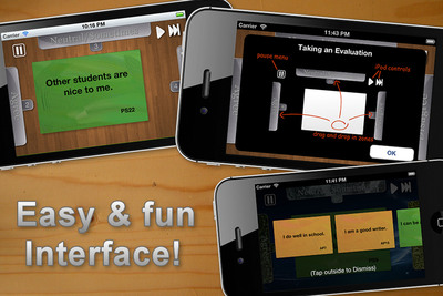 The Kids Self-Evaluate app has an easy and fun interface.  (PRNewsFoto/APG Mobile Applications)