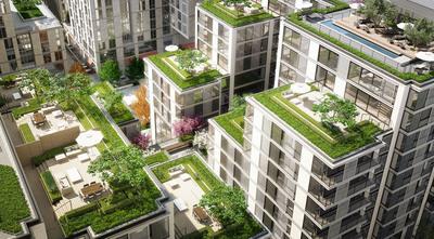 CityCenterDC condo terraces aerial photo.  (PRNewsFoto/CityCenterDC)