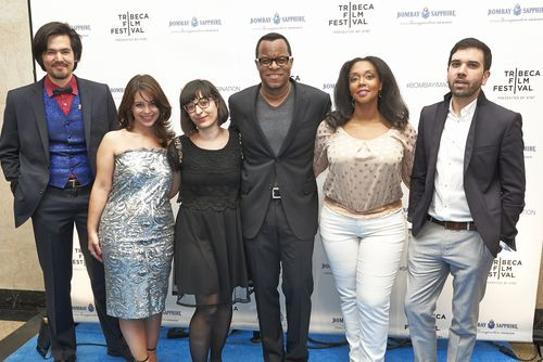 BOMBAY SAPPHIRE IMAGINATION SERIES GLOBAL FILM PREMIERE. GEOFFREY FLETCHER AND WINNERS (PRNewsFoto/Bombay Sapphire)