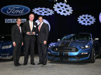 Dr. Karl Krause, CEO Kiekert (middle) with Mark Fields, Ford CEO (on the right) and Hau Thai-Tang, Ford Group Vice President Global Purchasing (on the left)